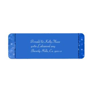 Schöne Blau-u. Glitzer-Schimmer-Schneeflocken
