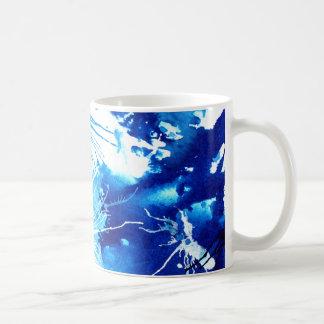 Schöne blaue Acryltinten abstrakter Kunst-Entwurf Kaffeetasse