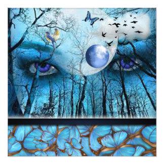 Schöne blaue Augen, die Natur aufpassen Fotodruck