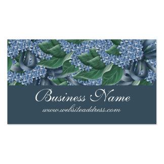 Schöne blaue Blumen-Geschäfts-Karten