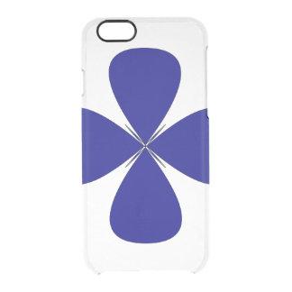 Schöne blaue Blumenmalerei für den Tag der Mutter Durchsichtige iPhone 6/6S Hülle