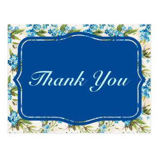Schöne blaue Calla-Lilien-Blume Vintag Postkarte
