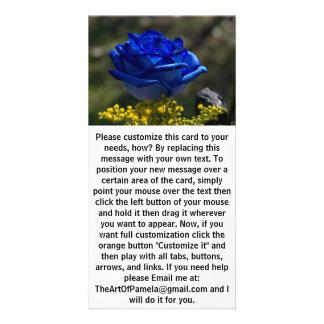 Schöne blaue Rose 1 Karte