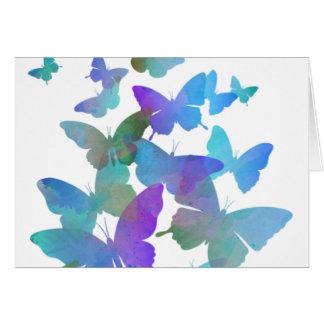 Schöne blaue Schmetterlinge Grußkarte