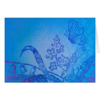 Schöne blaue Schmetterlings-Wiesenanmerkungskarte Karte