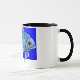 Schöne blaue tropische Oscar-Fische Tasse