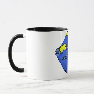 Schöne blaue tropische Papageien-Fische Tasse