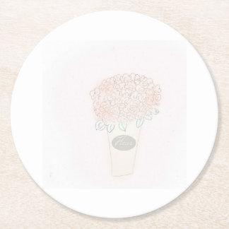 Schöne Blumen ausgewählt von der Rosevine Hütte Runder Pappuntersetzer