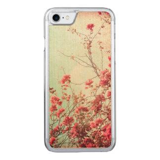 Schöne Blumen in der retro Art Carved iPhone 8/7 Hülle