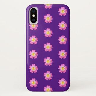 Schöne Blumen mit goldener Mitte iPhone X Hülle