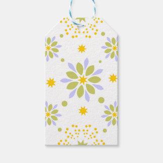 Schöne Blumen und Sterne Geschenkanhänger