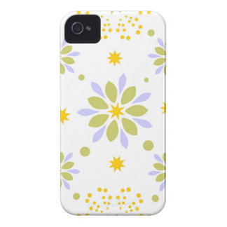 Schöne Blumen und Sterne iPhone 4 Hülle