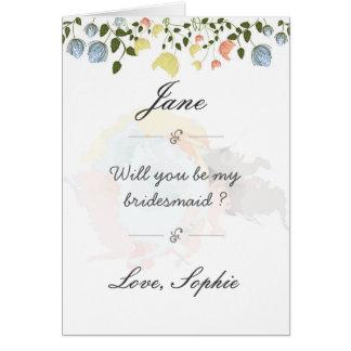 Schöne Blumenbrautjungfernpostkarte Grußkarte