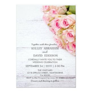 rosa rosenhochzeit einladungen | zazzle.de, Einladung