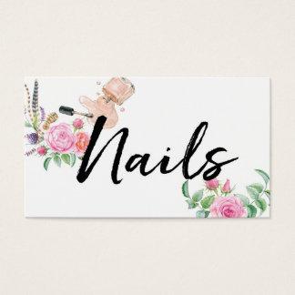 ★ schöne Blumennägel Visitenkarte
