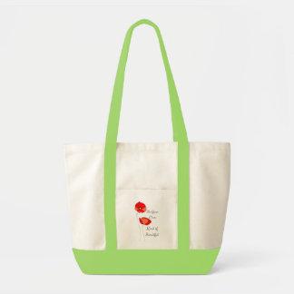 Schöne BlumenTaschen-Tasche Impulse Stoffbeutel