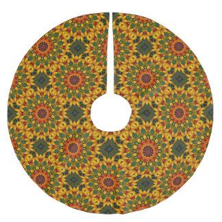 Schöne Blüten 02.7.2, Mandala für Weihnachten Polyester Weihnachtsbaumdecke