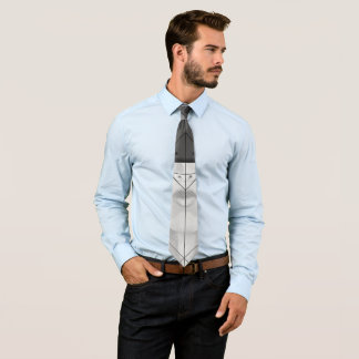 Schöne BnW Fraktal-Federn für bedeutendes Motoko Personalisierte Krawatte
