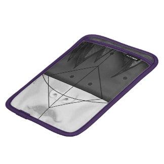 Schöne BnW Fraktal-Federn für bedeutendes Motoko Sleeve Für iPad Mini