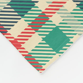 Schöne bunte karierte Fleece-Decke Fleecedecke