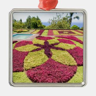 Schöne bunte Muster und Formen im Garten Quadratisches Silberfarbenes Ornament