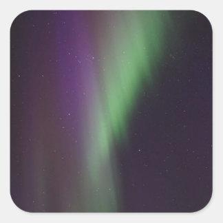 Schöne bunte Nordlichter Quadratischer Aufkleber