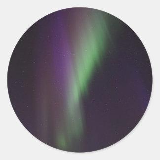 Schöne bunte Nordlichter Runder Aufkleber