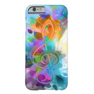 Schöne bunte und coole Spritzermusikanmerkung Barely There iPhone 6 Hülle