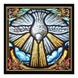 Schöne Buntglas-Fenster-Tauben-beklagenkarten Karte