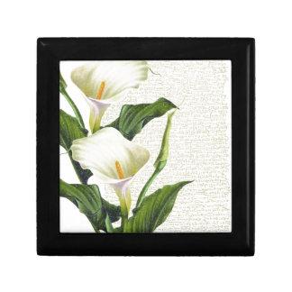 Schöne Calla-Lilien Schmuckschachtel