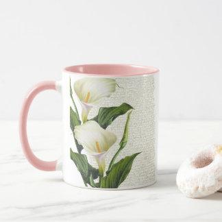Schöne Calla-Lilien Tasse