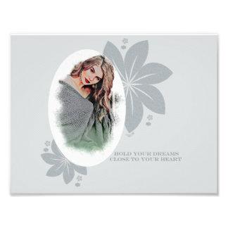 Schöne Dame Fotodruck