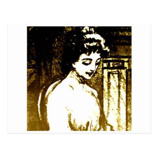 Schöne Dame Postkarte