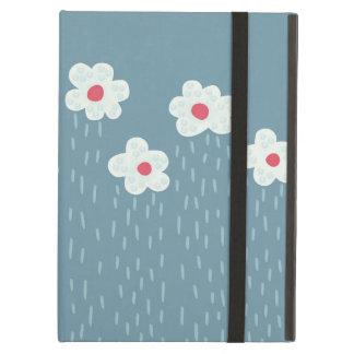 Schöne dekorative Blumen-Muster-Regen-Wolken