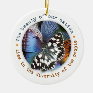 Schöne Diversity-Feiertags-Verzierung Keramik Ornament