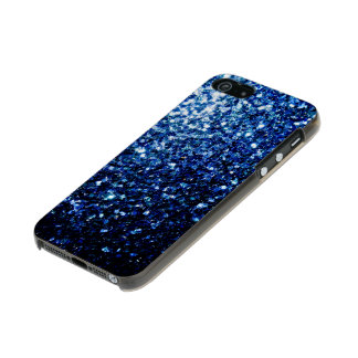 Schöne dunkelblaue Glitter-Glitzern Incipio Feather® Shine iPhone 5 Hülle