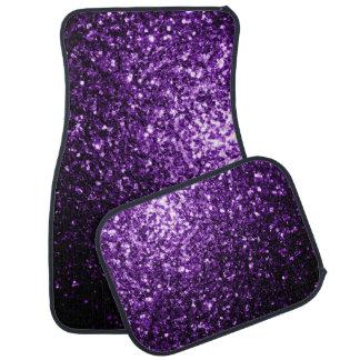 Schöne dunkle lila Glitter-Glitzern Autofußmatte