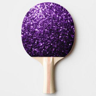 Schöne dunkle lila Glitter-Glitzern Tischtennis Schläger