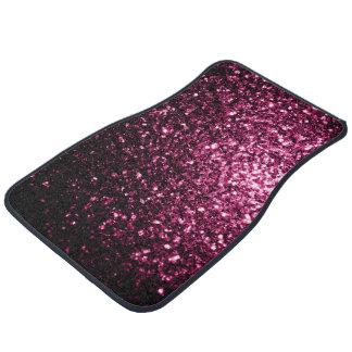 Schöne dunkle rosa Glitter-Glitzern Autofußmatte