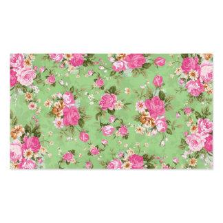 Schöne elegante girly Vintage Rosen-Blumen Visitenkarte