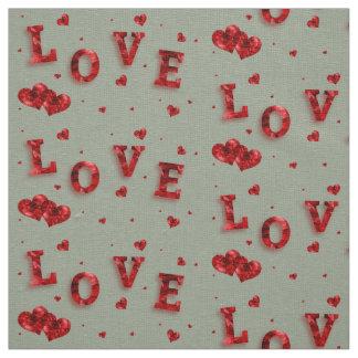 Schöne elegante rote Liebe mit Herz-Gewebe Stoff