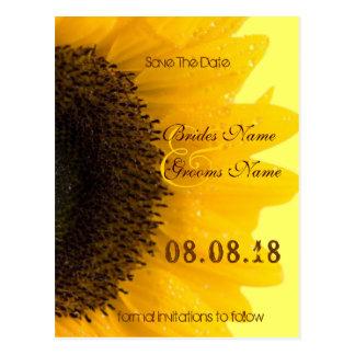 Schöne elegante Sonnenblume-Hochzeits-Einladung Postkarte