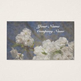 Schöne elegante weiße Blumen Visitenkarte