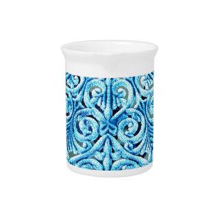 Schöne Entwurfs-Kunst-Blumen-BlumenBlumen-Farbe Getränke Pitcher