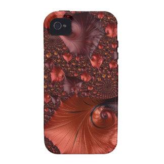 Schöne Erdton-Fraktal-Kunst iPhone 4 Case
