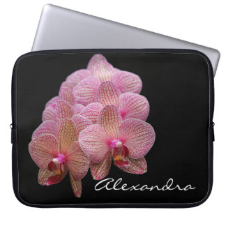 Schöne exotische Orchideen-Blumen Laptop Sleeve