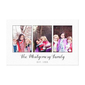 Schöne Familien-Foto-Collage Leinwanddruck