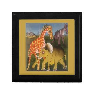 Schöne fantastische afrikanische Safarifarbe des Schmuckschachtel