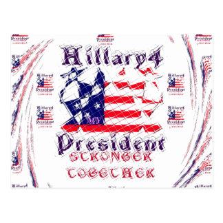 Schöne fantastische Wahl-Flaggen-Farbe Hillary USA Postkarte