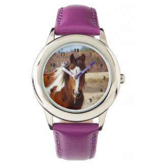 Schöne Farben-Pferdekinderuhr Uhr
